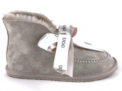 UGG Kallen Bow Boot Grey (натур. мех)