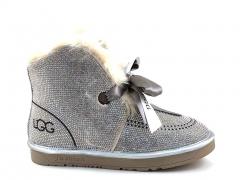 UGG Kallen Bow Boot Silver (натур. мех)