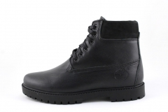 Timberland 6-inch Black Leather (натур. мех)