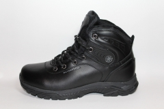 Baas Boots WaterProof Black Leather (натур. мех)