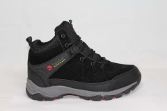 Timberland Waterproof Black/Grey (натур. мех)