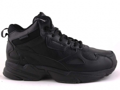 Adidas Falcon Mid Black Leather (с мехом)