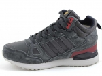 Adidas ZX 750 Mid Grey/Red (с мехом)