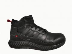 Adidas ZX 4000 Black Lether (с мехом)