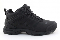 Adidas Climaproof Mid All Black (натур. мех)