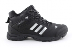 Adidas Climaproof Mid Black/White (натур. мех)