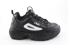 Fila Disruptor 2 Black/White (с мехом)
