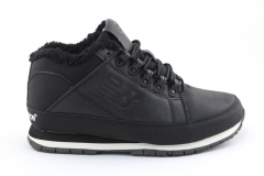 New Balance 754 Black Leather (c мехом)