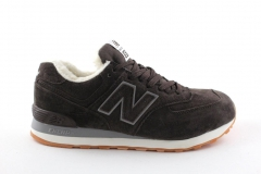 New Balance 574 Brown Suede (с мехом)