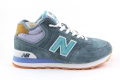New Balance 574 Mid Blue/Turquoise (с мехом)