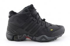 Adidas Terrex Fast R Mid Black/Grey (с мехом)