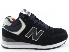 New Balance 574 Mid D19 Navy (с мехом)