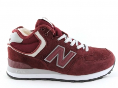 New Balance 574 Mid D19 Burgundy (с мехом)
