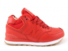 New Balance 574 Mid D19 Leather Red (с мехом)