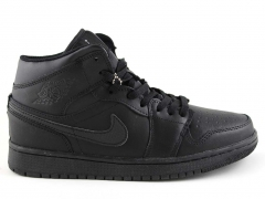 Nike Air Jordan 1 Retro All Black (натур. мех)