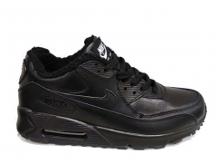 Nike Air Max 90 All Black (с мехом)