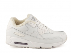 Nike Air Max 90 All White (с мехом)