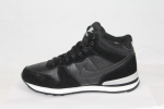Nike Internationalist Mid Black (натур. мех)