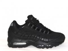 Nike Air Max 95 Black Nubuck (натур. мех)