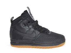 Nike Lunar Force 1 Duckboot Black (c мехом)