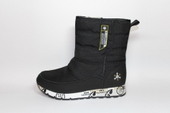 Дутики Baas Boots Snow Black (натур. мех)