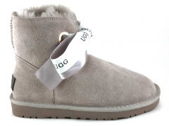 UGG Kallen Bow Slippers Grey (натур. мех)