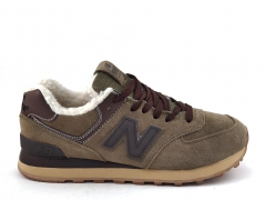New Balance 574 Olive/Brown (с мехом)