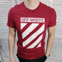 Мужская футболка Off-White - красный (MF005)
