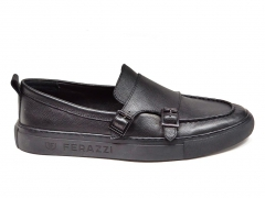 Ferazzi Mocassin Leather Black FRZ015