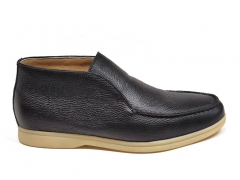 Loro Piana Open Walk Black Leather/Gum