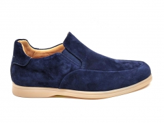 Loro Piana Summer Walk Navy Suede