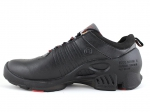 Ecco Biom C Black Leather/Grey/Red