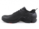 Ecco Biom C Black Leather/Red